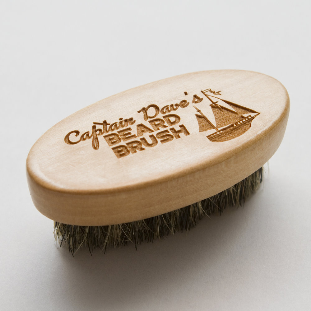 Captain Dave's Beard Brush - Captain Dave's Beard Brush is a great tool to help apply Beard Balm or Mustache Wax and style your facial hair.