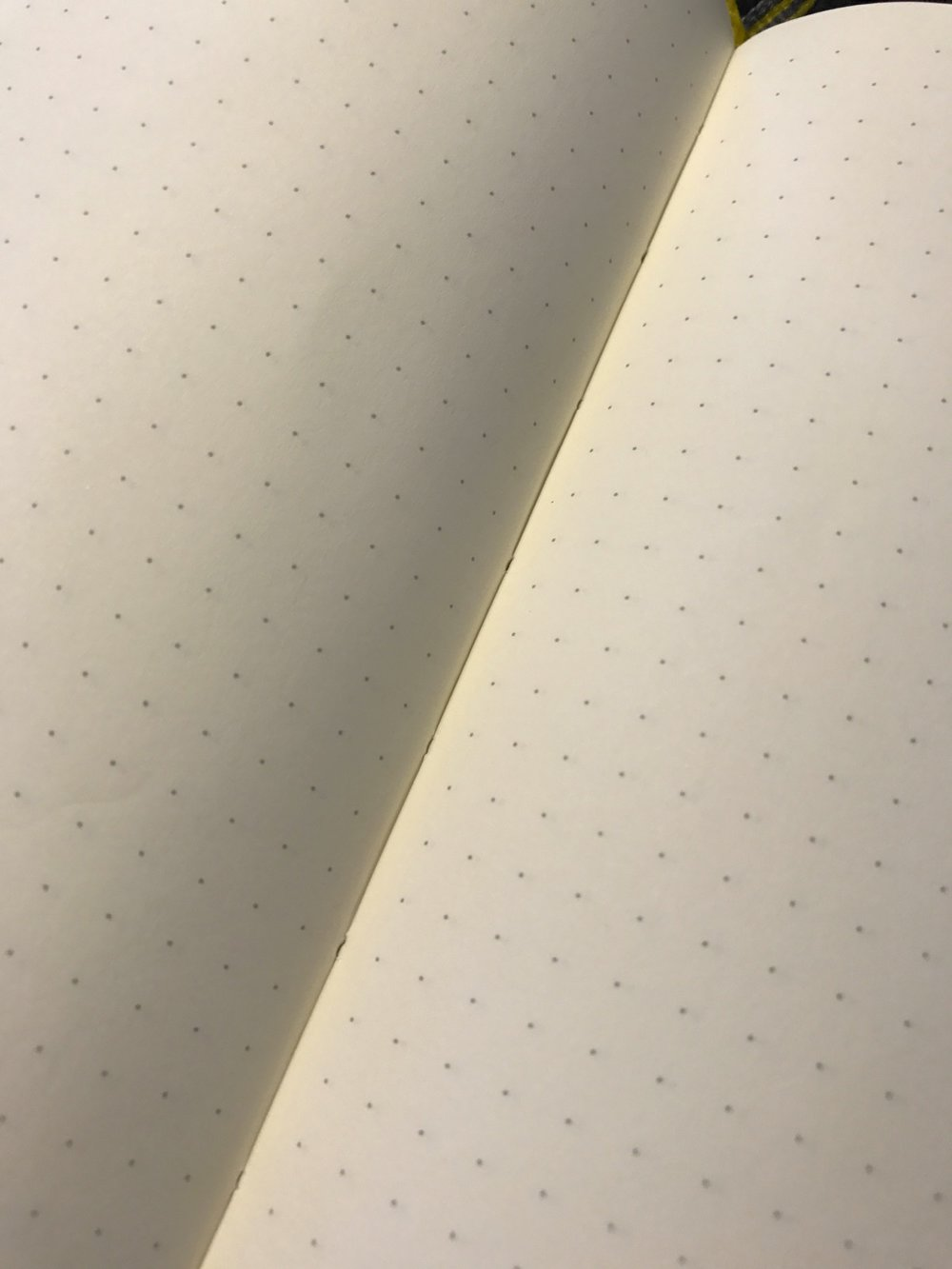 The binding of the Leuchtturm1917 is stitched and holds up well.