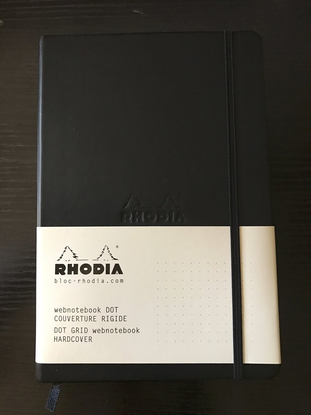 The Rhodia Webnotebook has a pleasant leather-like hardcover.
