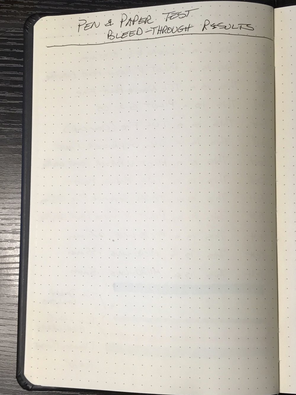 I was pleasantly surprised by the minimal ghosting in the Rhodia. This paper topped the other five in this regard. Only the Northbooks paper came close.