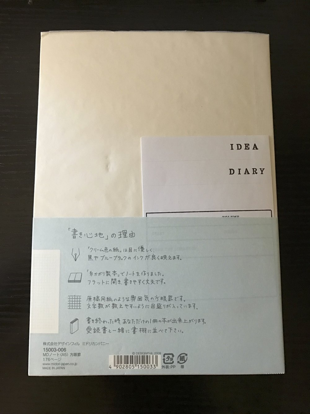 The Midori MD notebook stood out as unique among all those tested (and in general, in my experience).
