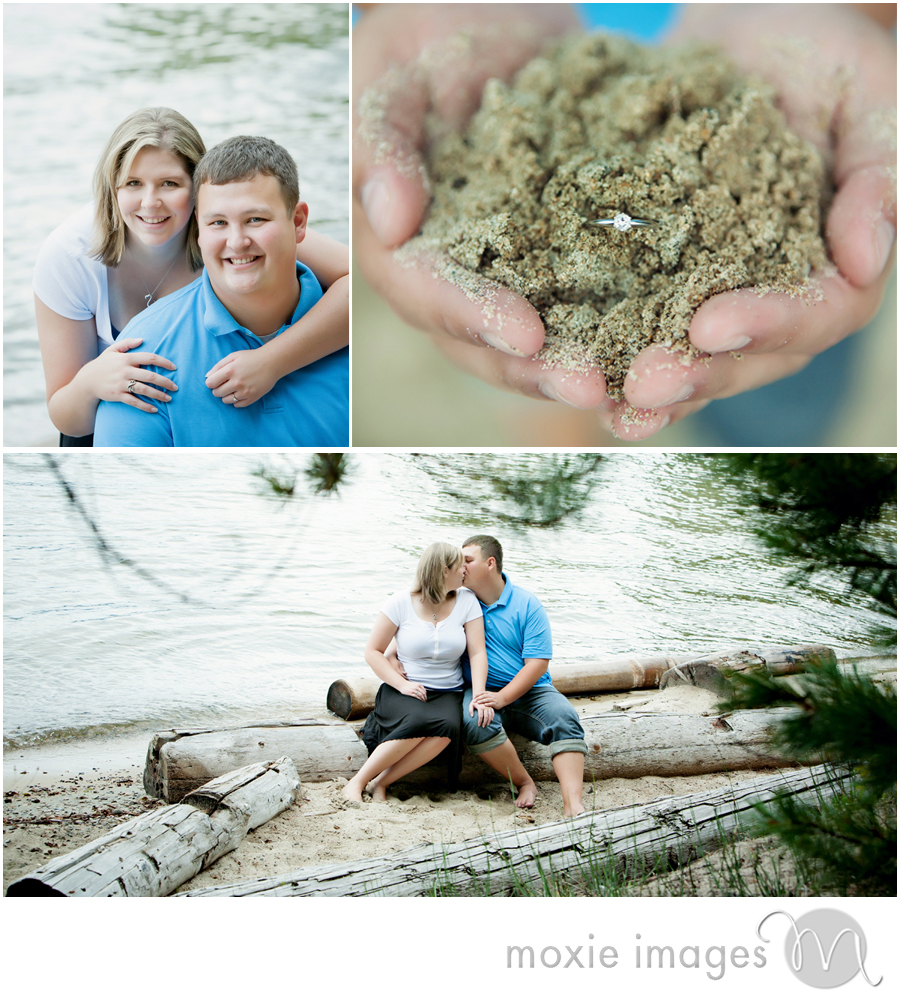 priest lake beach engagement photos