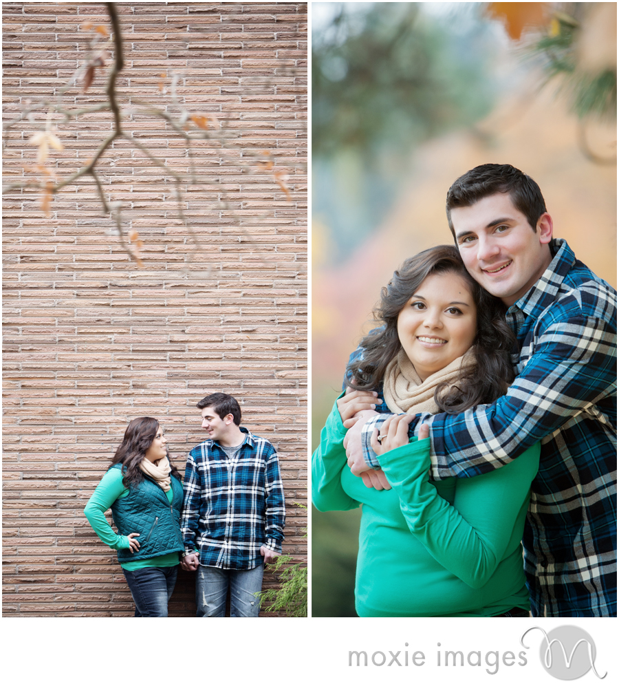 Fall engagement session Finch Arboretum