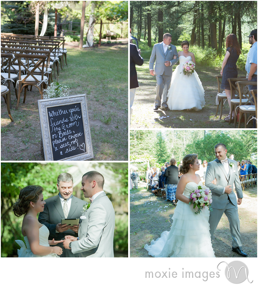 Spokane wedding outdoor ceremony