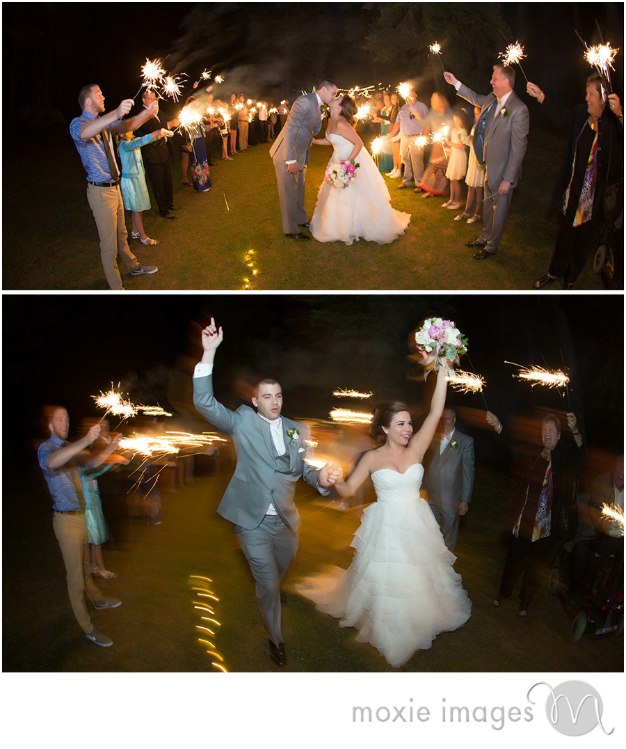 Spokane wedding sparklers