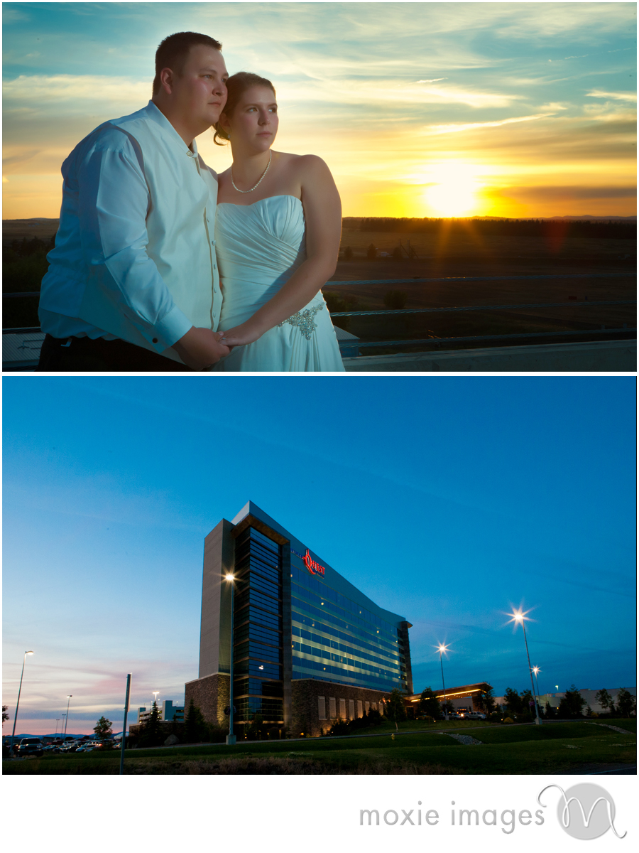 Northern Quest Casino Wedding sunset