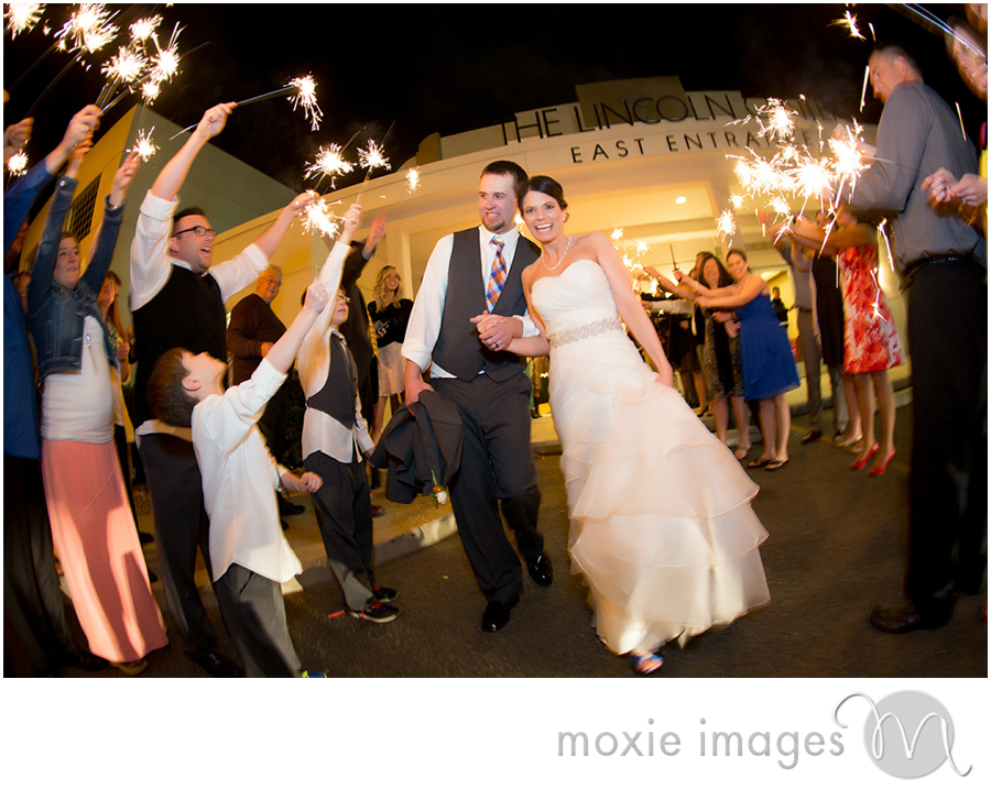 Spokane Wedding Sparklers Lincoln Center