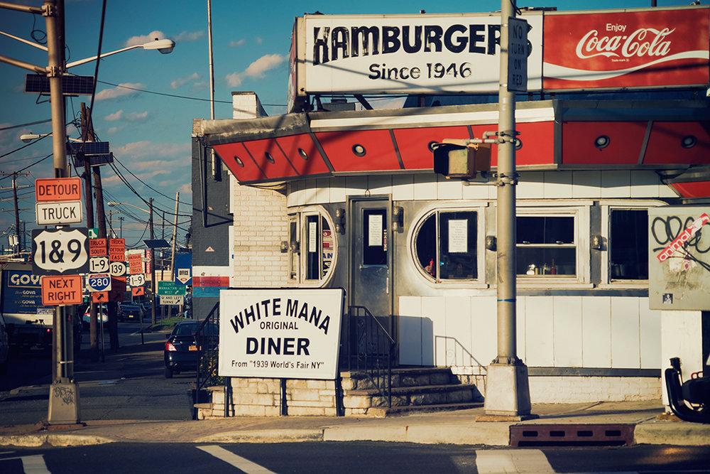 White Mana Diner -Tonelle Avenue, Jersey City .