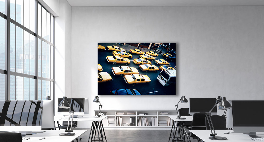 94 YELLOW CABS  - 40x60 inch Satin Sheet print.