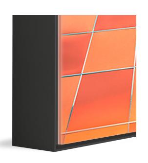 Black Aluminum Art Box frame