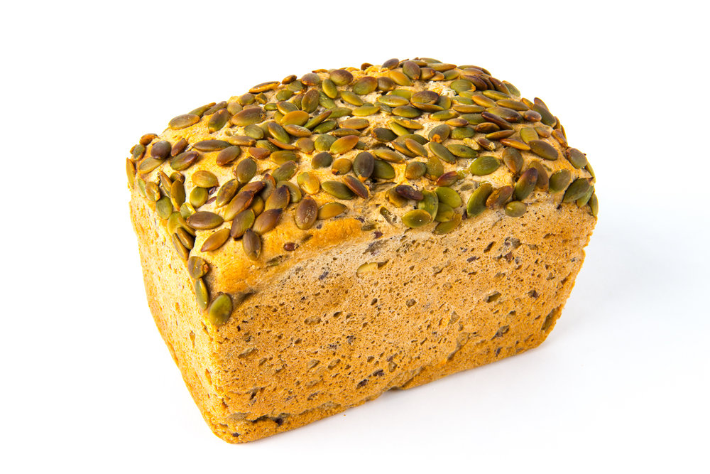 Seeded Gluten Free -  Our gluten free loaf with a special combination of sprouted mung bean and linseed, topped with pepita seeds.