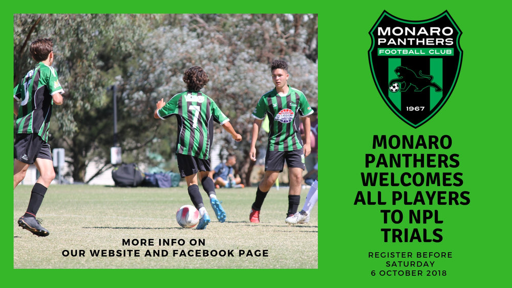 Monaro Panthers welcomes all players to trial.   Find out more and register here:  https://goo.gl/forms/UNC4w5vJROZbcwRG3