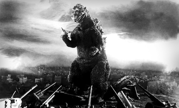 Godzilla on his path of destruction!