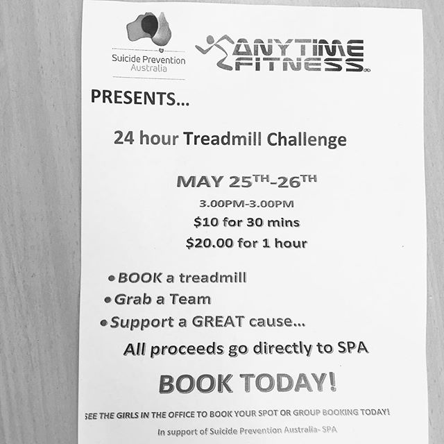 Anyone keen to do this?  Surely we can get a team to run for a few hours to raise money for this great cause 🙂. #treadmill #runforacause #spa #reneebrownefitness #realpeople #greatcause