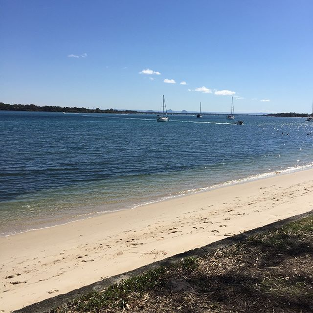 Such a gorgeous day!  Who'd believe it's winter?? Now get out and enjoy it!  #reneebrownefitness #realpeople #fitness #outdoors #bribieisland