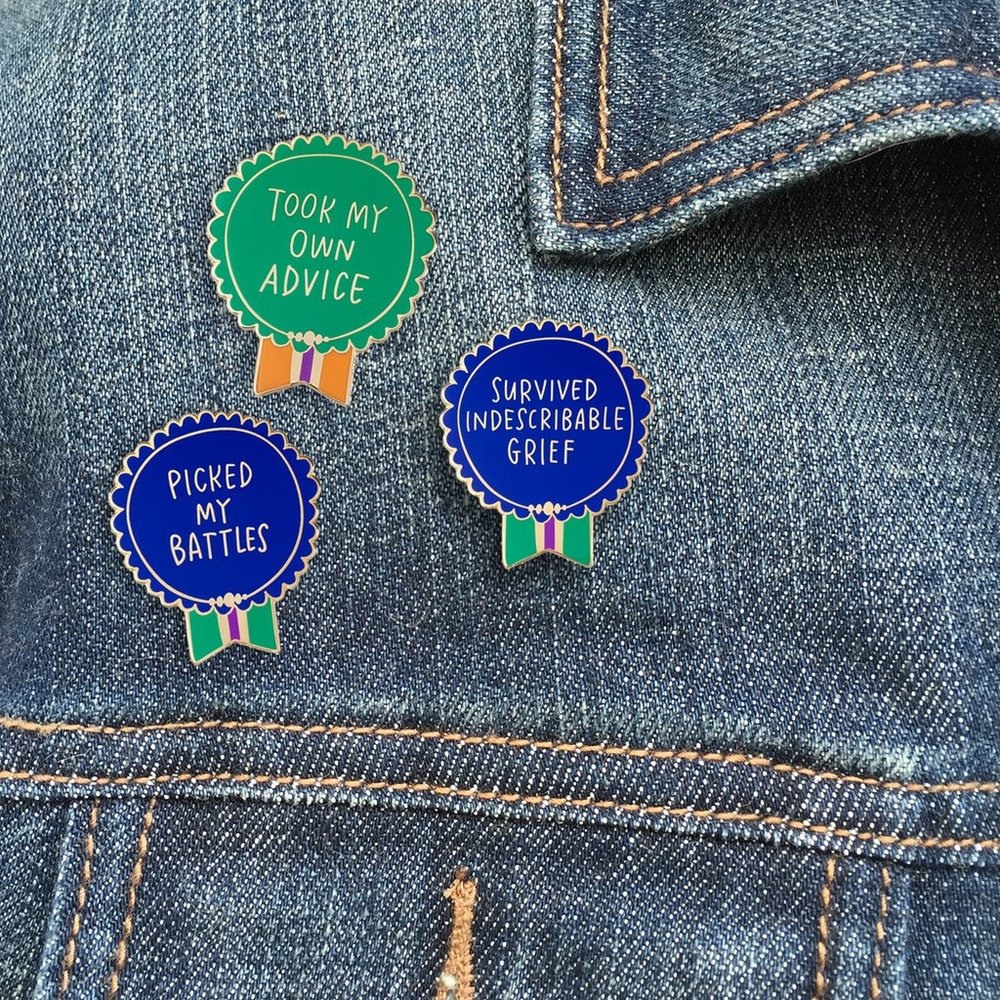 Everyday Bravery Pins by Emily McDowell
