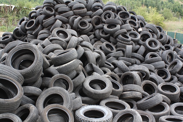 Tires are plastic products. Reused as grass mats for football fields it is a disaster to the environment
