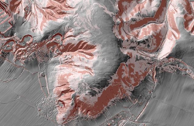 GIS-Neigungsanalyse im Rahmen der Grundlagenforschung zum teilörtlichen Entwicklungskonzept Hundsheim