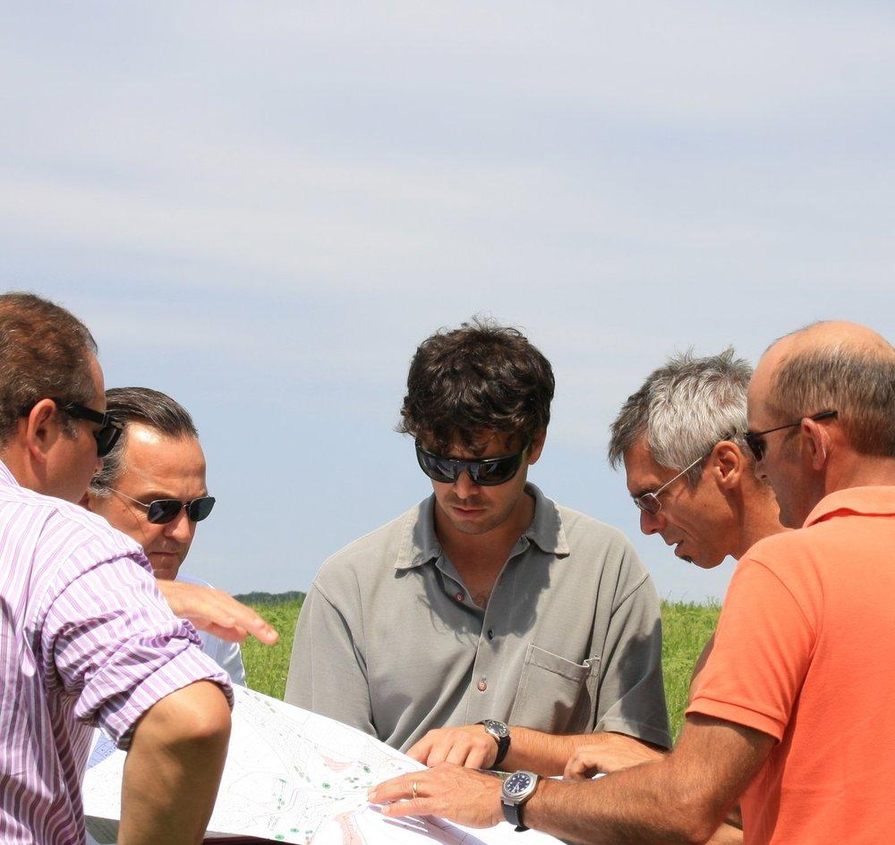 Planungsbesprechung Golfprojekt Klosterneuburg