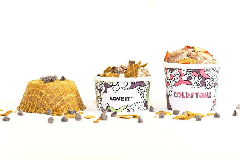Cold Stone Creamery Rebrand Packaging