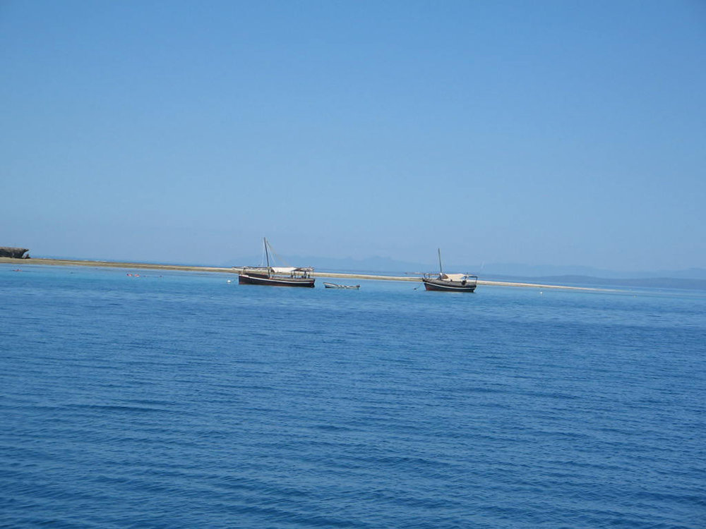 The dhows heading to Kisite and Wasini