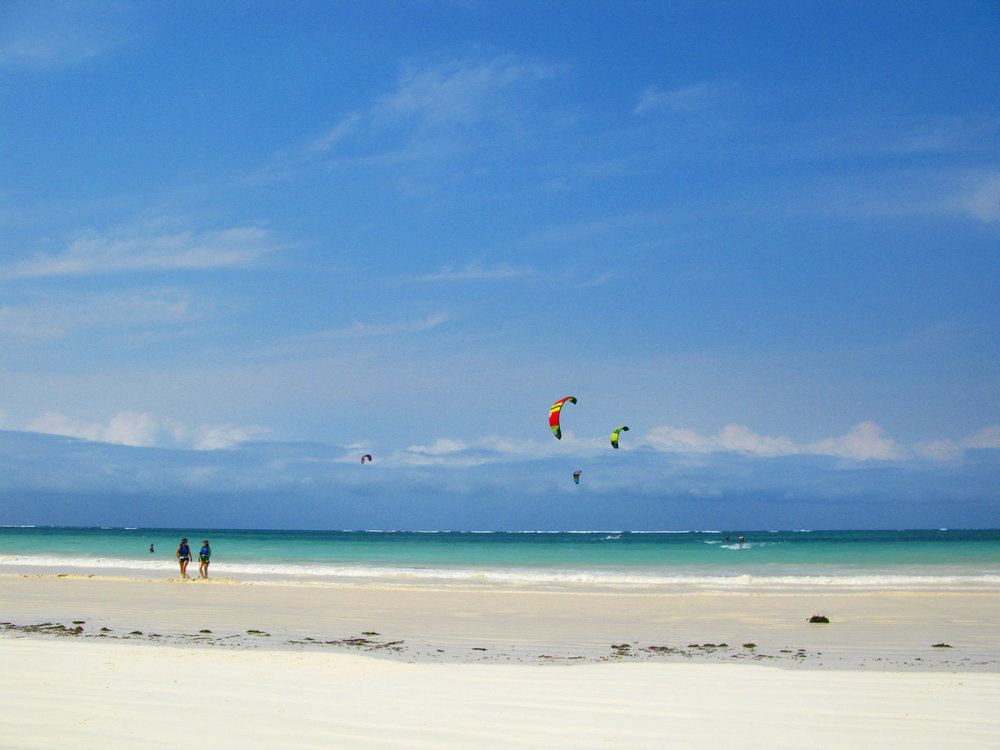Kitesurfing on Diani Beach