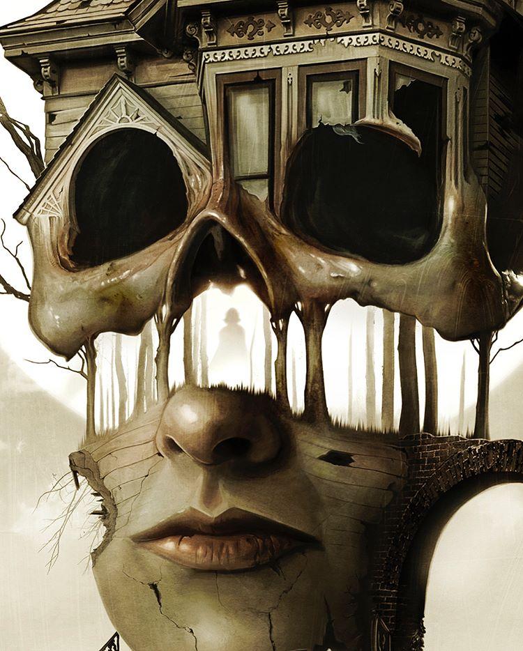 A close up of 'her'. David Seidman Art.