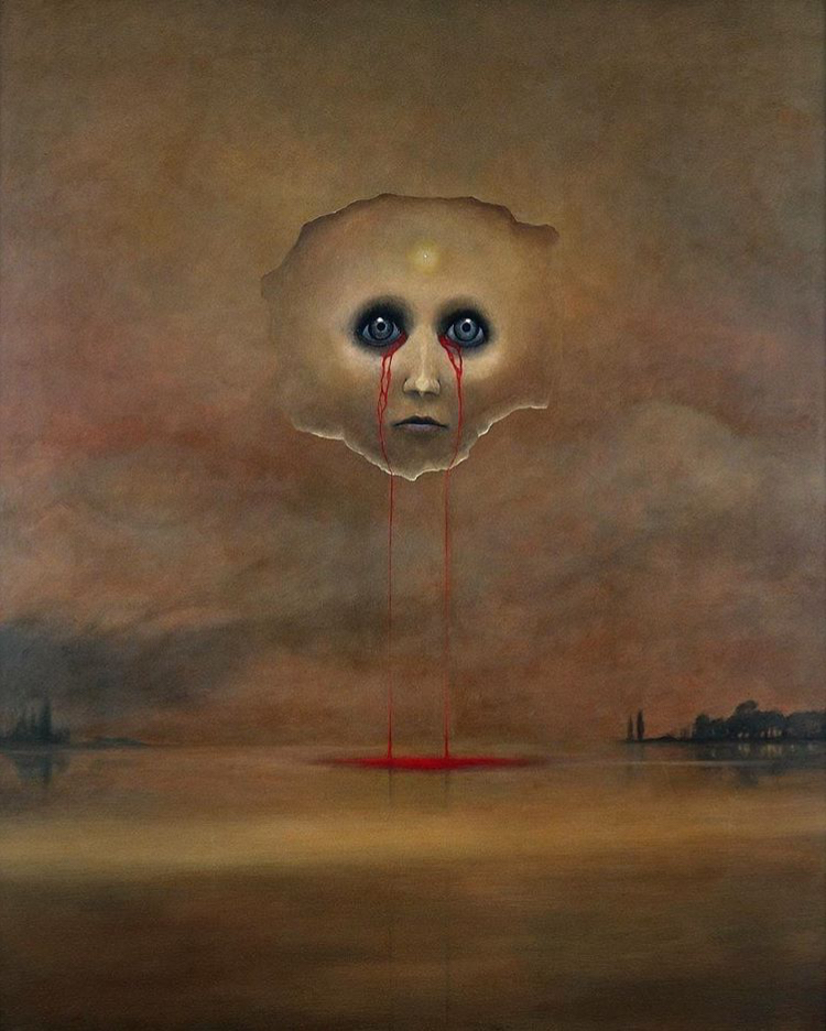 Untitled Painting by Zdzisław  Beksiński