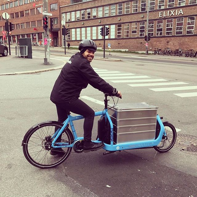 Our technical manager Marko on his way to Montreal. #uitpmontreal #bikesharing