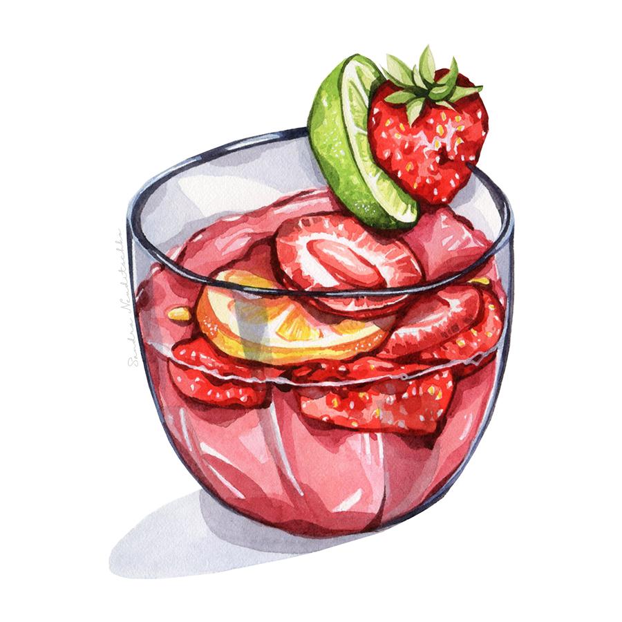 Erdbeerspritzer