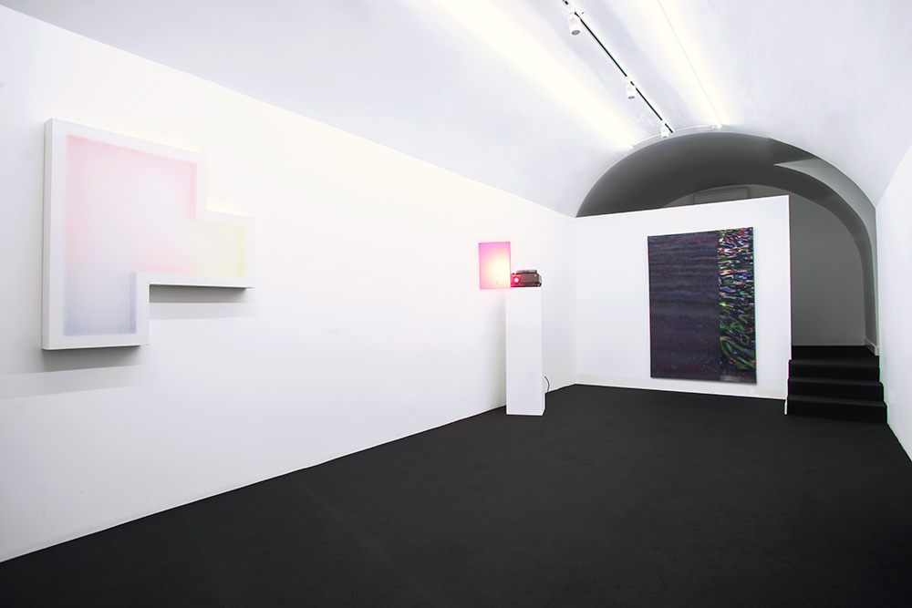 no.stereo - song no.1 - installation view  Left to Right:  Patric Sandri   João Paulo Serafim   Kristian Touborg