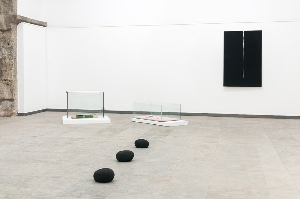 Matter/Non_Matter- installation view  Left to Right:  Gioia Di Girolamo ,  Antonio Bokel