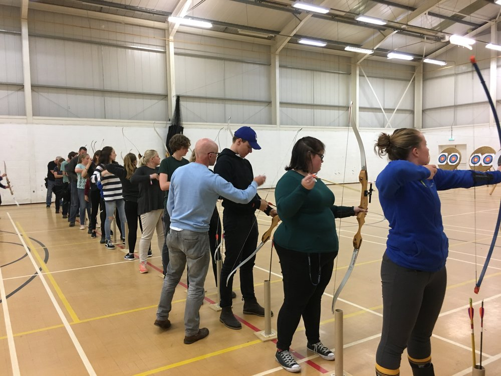 Indoor shooting at Askham Bryan, York