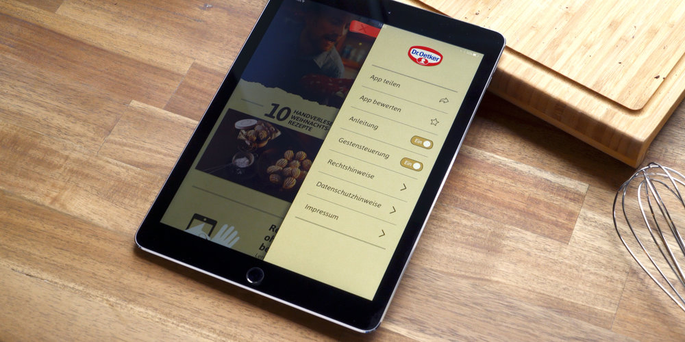 The BACKEN App also works with touch-gestures, if that's what you prefer.