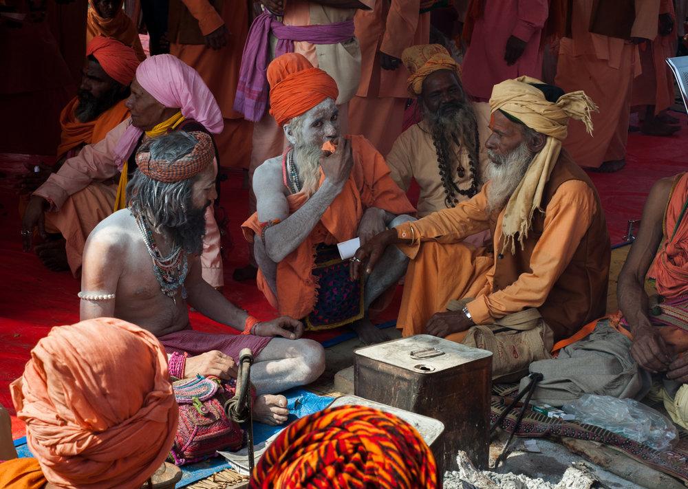A gathering of Sadhus