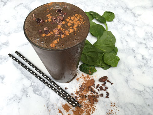 Dark chocolate smoothie is a source of antioxidants
