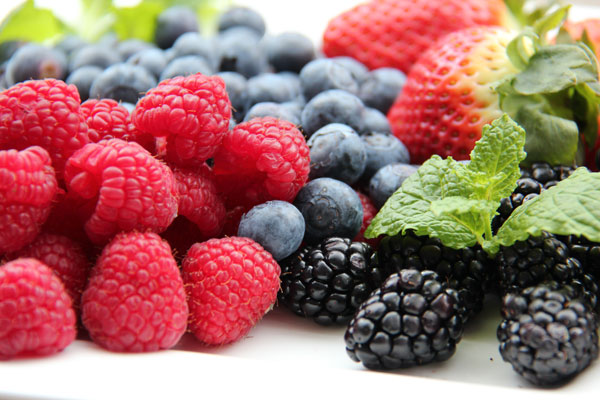 raspberries, blueberries, strawberries and blackberries