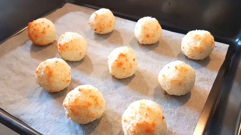 Macaroons should be slightly browned when removed from the oven
