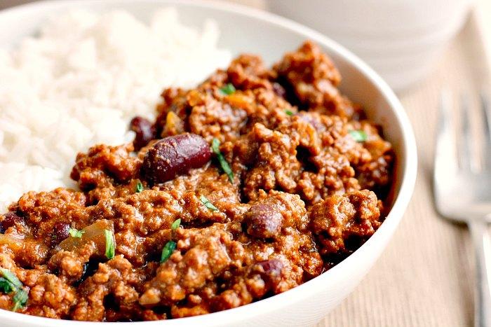 Delicious and healthy chilli con carne