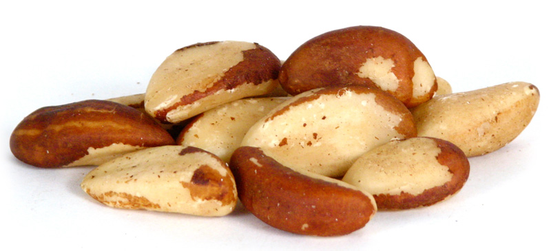 a picture of a handful of brazil nuts that support thyroid function and are a good source of selenium
