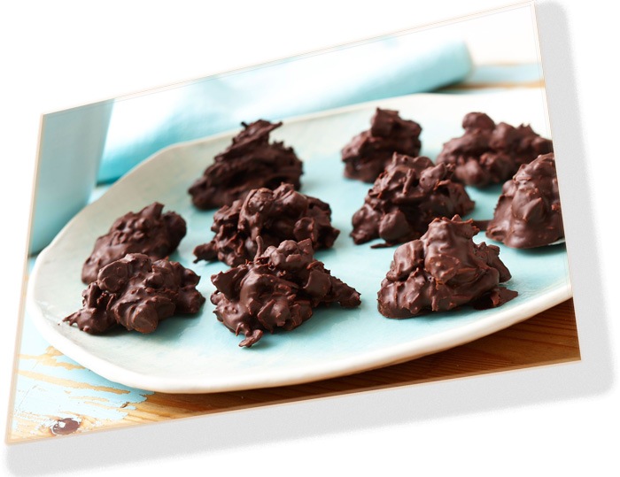 dark chocolate, fruit and nuts make this cluster snack extremely nourishing