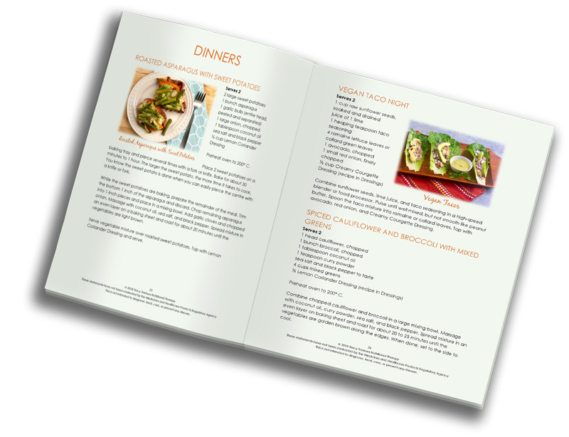 a picture of the spring detox recipe book with several healthy liver friendly recipes on display