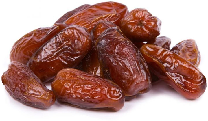 a small pile of dates which are naturally sweet and full of nutrients