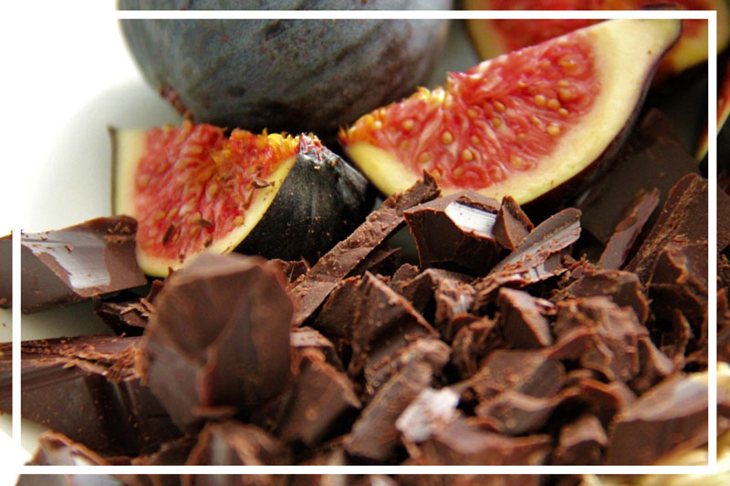 Dark Chocolate and Figs are wonderful sources of magnesium. Photo by Alicia Bennett