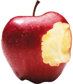 an apple can be a healthy and nutritious snack but is high in sugar