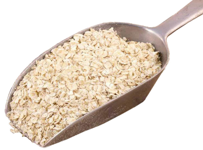 A scoop of low GL porridge oats