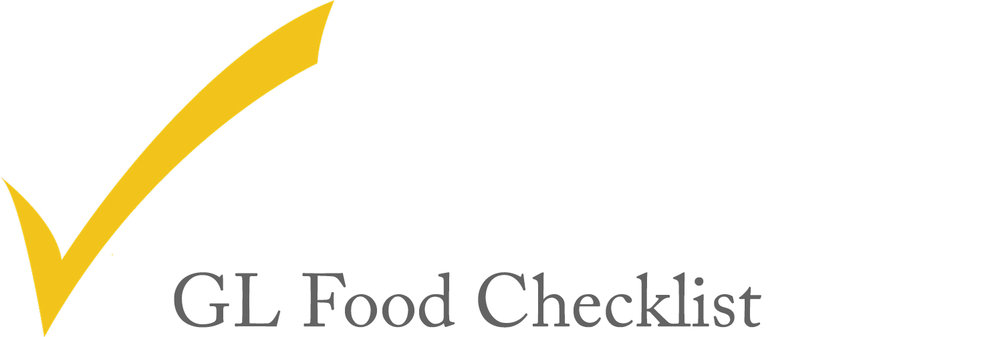 GL checklist for different food types