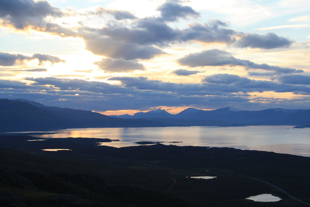 Sunset over lake Törnetrask (as seen from the Abisko Scientific Research Station)