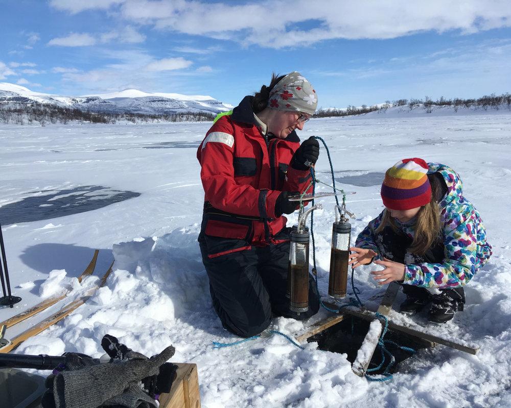 Ice Sampling at Lake Almberga