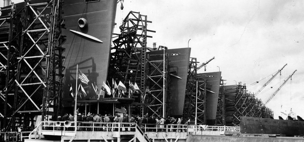 Portland shipyards during WWII.